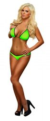 Triangle Top & Thong/ - Lime, - M/
