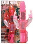Double Rabbit Vibe - Clear Hot Pink
