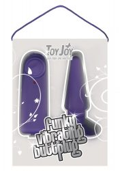 FUNKY VIBRATING BUTTPLUG PURPLE
